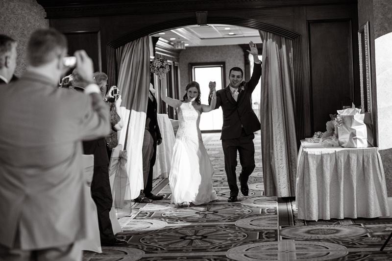 married couple walking in