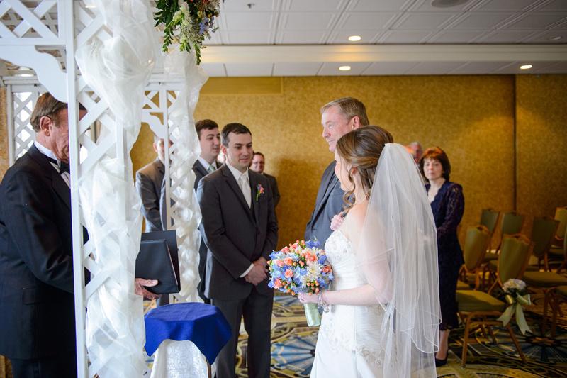 bride at alter